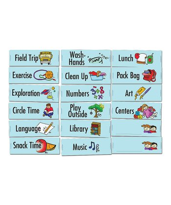 Preschool & Kindergarten Class Routine Magnet Set