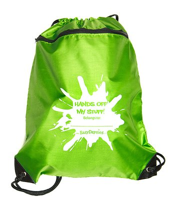 Green My Stuff Drawstring Knapsack