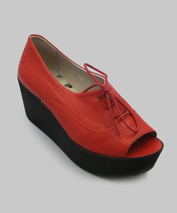 Red Ant Open-Toe Wedge