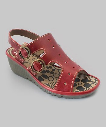 Red Ogla Wedge Sandal