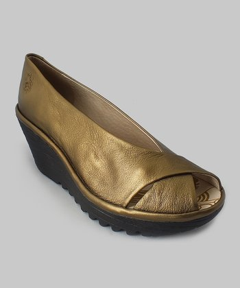 Bronze Yaff Open-Toe Wedge