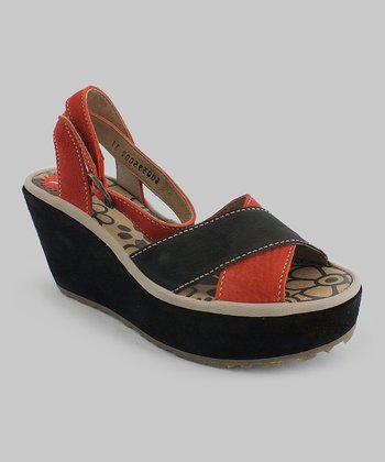 Red Pati Wedge Sandal