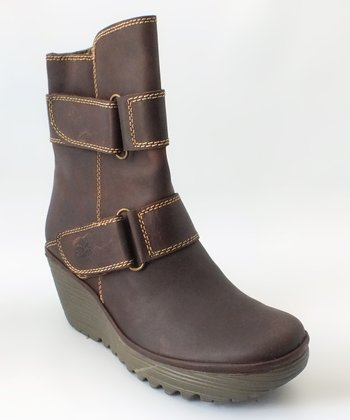 Dark Brown Yaki Wedge Boot