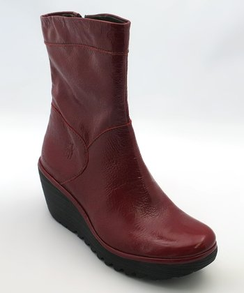 Red Patent Yari Wedge Boot