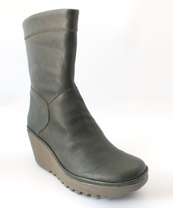 Green Mousse Yari Wedge Boot