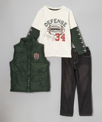 Forest 'Football' Vest Set - Toddler