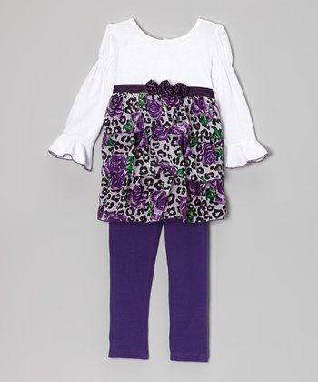 Purple Rose Cheetah Tunic & Leggings - Infant