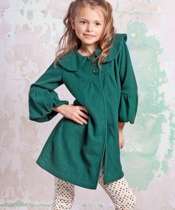 Green Monaco Classic Coat - Infant, Toddler & Girls