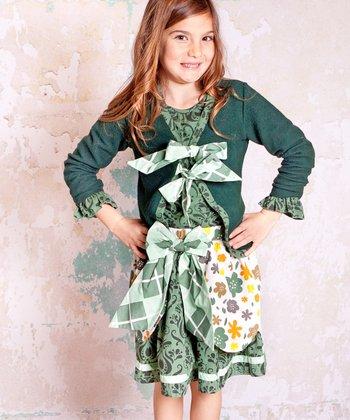 Green Monaco Cardigan - Infant, Toddler & Girls