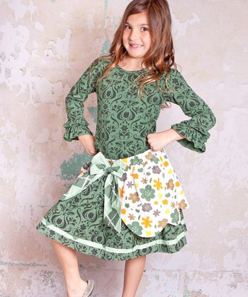 Green Monaco Courtney Top & Skirt - Infant, Toddler & Girls