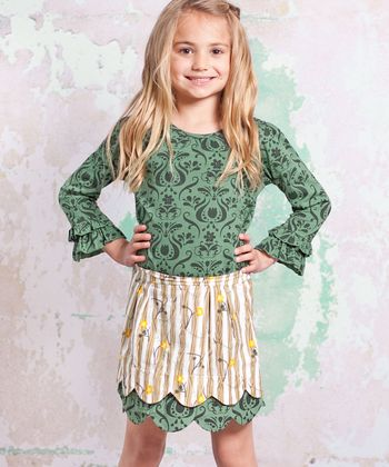 Green Monaco Lindsay Top & Skirt - Infant, Toddler & Girls