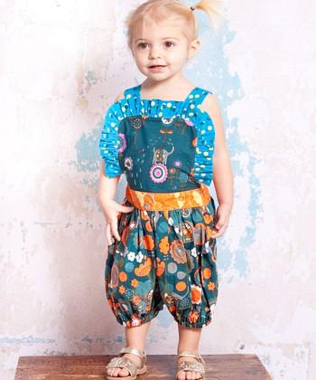 Teal Agra Isla Bubble Romper - Infant