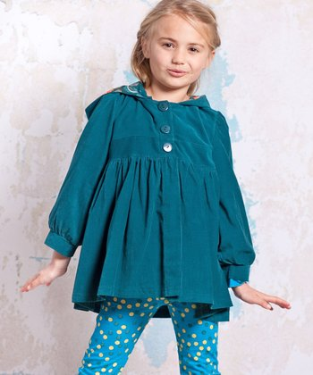 Teal Agra Corduroy Jacket - Infant, Toddler & Girls