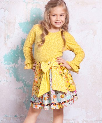 Yellow Bees Courtney Top & Skirt - Infant, Toddler & Girls
