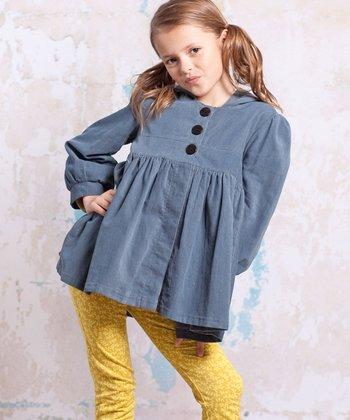 Slate Blue Bees Corduroy Jacket - Infant & Girls