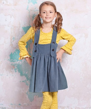 Slate Blue Bees Ollay Jumper - Infant, Toddler & Girls