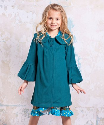 Teal Agra Classic Coat - Infant, Toddler & Girls
