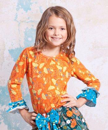 Orange Agra Emma Top - Infant, Toddler & Girls