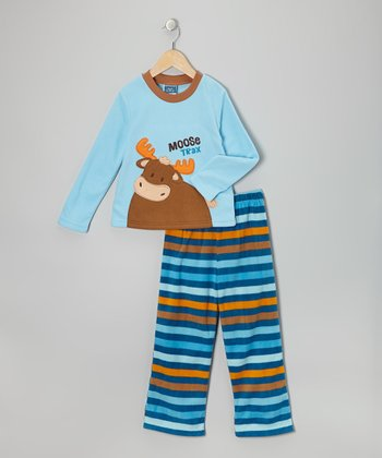 Blue Moose Fleece Pajama Set - Toddler & Boys