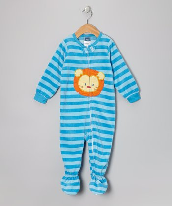 Blue Lion Fleece Footie - Infant