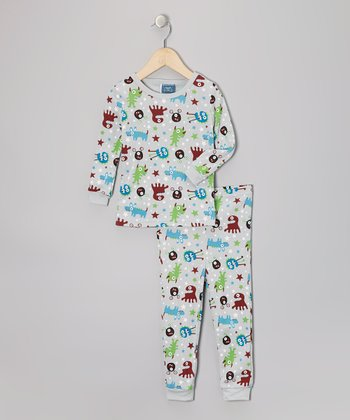 Gray Monster Pajama Set - Infant
