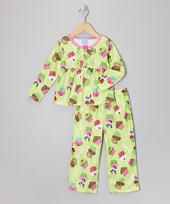 Lime Cupcake Babydoll Pajama Set - Toddler