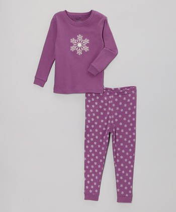 Purple Snowflake Pajama Set - Infant & Toddler