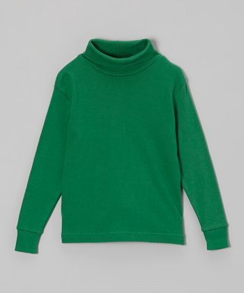 Green Turtleneck - Toddler & Kids