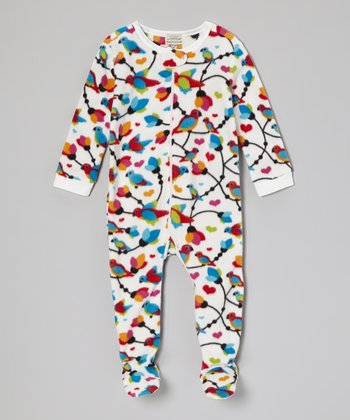 White Birds Footie - Infant