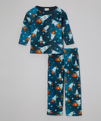 Blue Rockets Pajama Set - Toddler