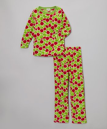 Red & Green Apples Pajama Set - Toddler & Girls
