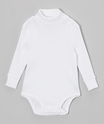 White Turtleneck Bodysuit - Infant
