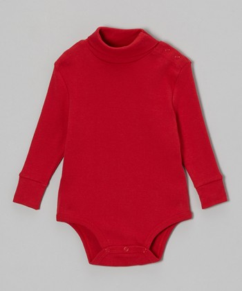 Red Turtleneck Bodysuit - Infant