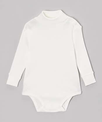 Off-White Turtleneck Bodysuit - Infant