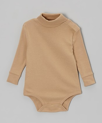 Beige Turtleneck Bodysuit - Infant