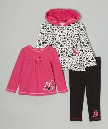 Hot Pink Heart Top Set - Infant