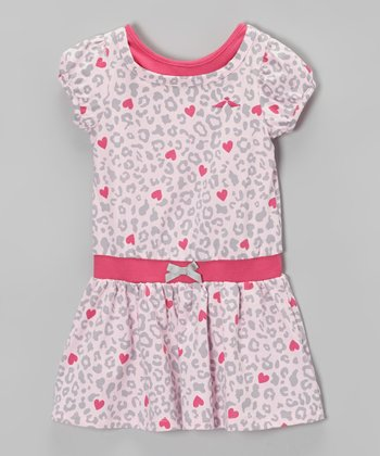 Pink Heart Leopard Dress - Infant, Toddler & Girls