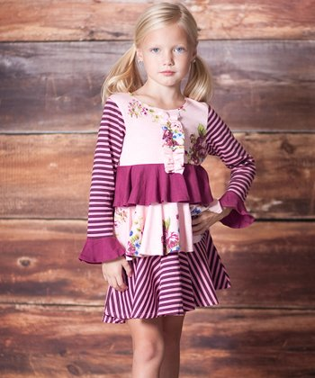 Rose Garden Tiered Party Dress - Infant, Toddler & Girls