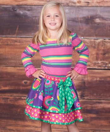 Pink Top & Telluride Claire Skirt - Infant, Toddler & Girls