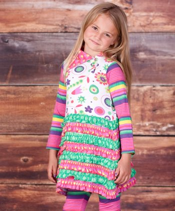 Pink Telluride Trisha Dress & Leggings - Infant