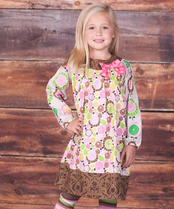 Brown Montrose Allison Dress & Leggings - Infant, Toddler & Girls