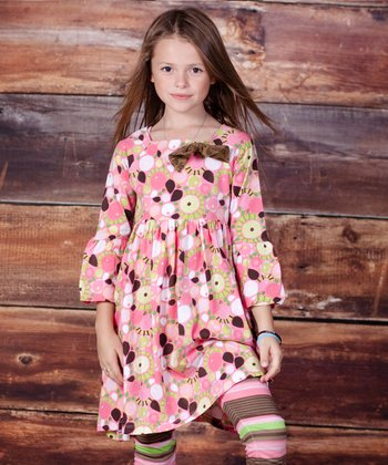 Pink Montrose Ashley Dress & Leggings - Girls