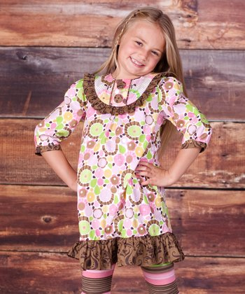 Brown Montrose Jessica Dress & Leggings - Infant