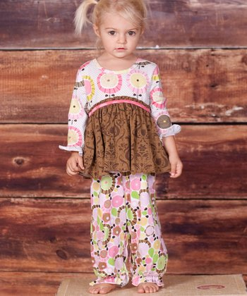 Pink & Brown Montrose Becca Playsuit - Infant