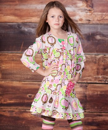 Green Montrose Renee Dress & Leggings - Infant, Toddler & Girls
