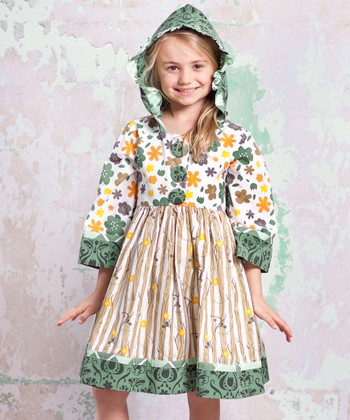 Green Monaco Hannah Hooded Dress - Infant, Toddler & Girls