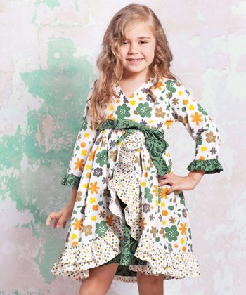 Green & Yellow Monaco Jordan Dress - Infant, Toddler & Girls