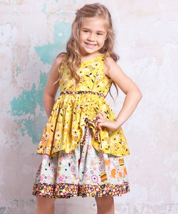 Yellow Bees Tenley Dress - Infant, Toddler & Girls