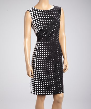 Black & White Vanishing Polka Dot Dress