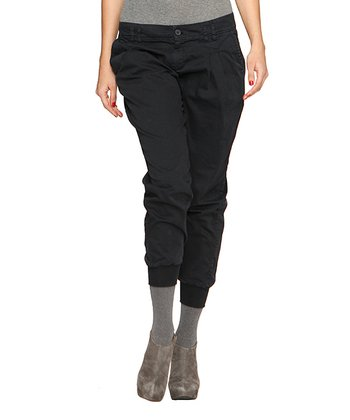 Black Cropped Pants - Women